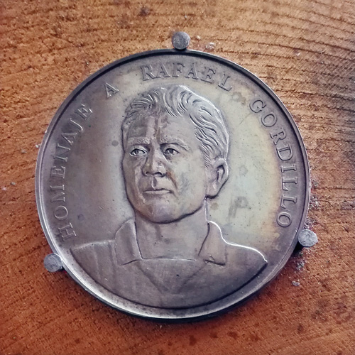 Moneda conmemorativa Camacho. Jose Kareaga
