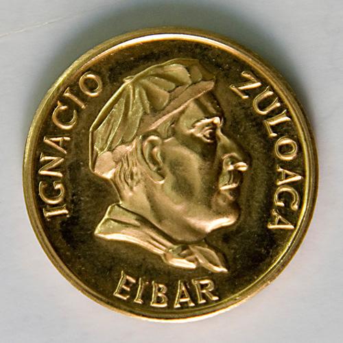 Moneda Zuloaga. Jose Kareaga