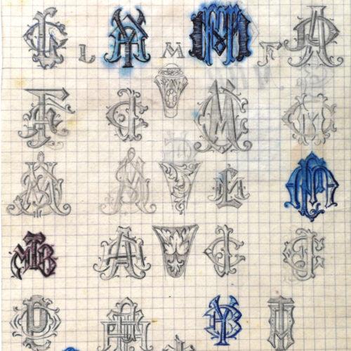 Estudio de iniciales II. Jose Kareaga