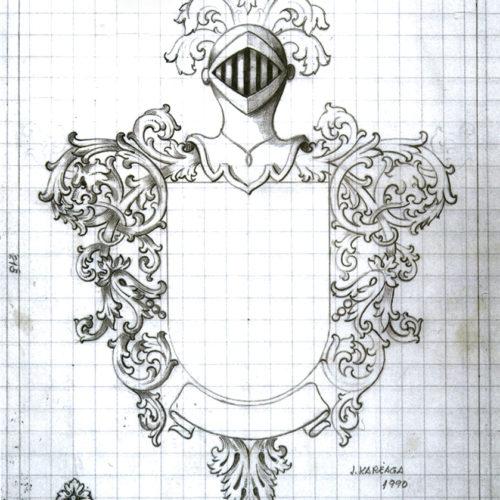 Boceto Escudo I. Jose Kareaga