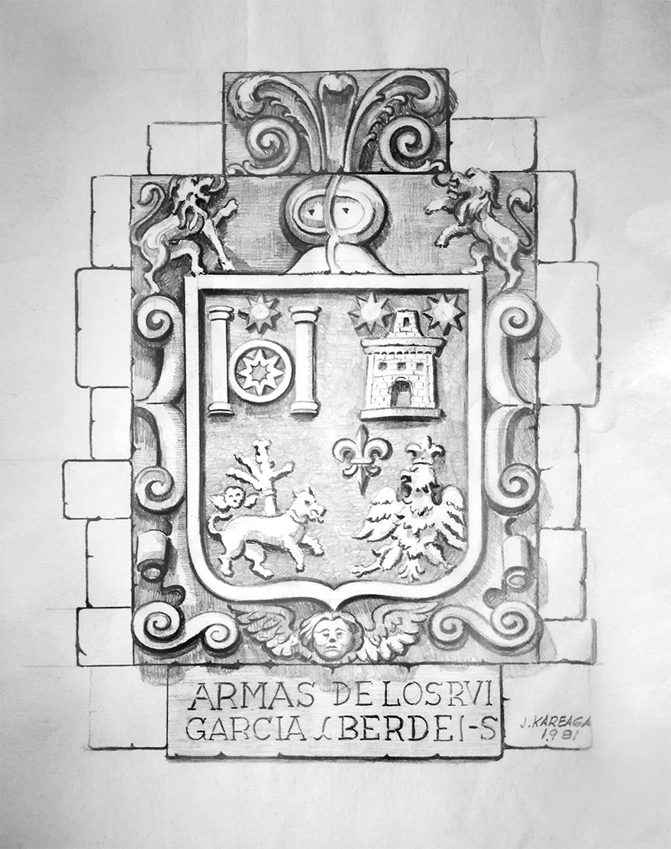 Boceto escudo II. Jose Kareaga