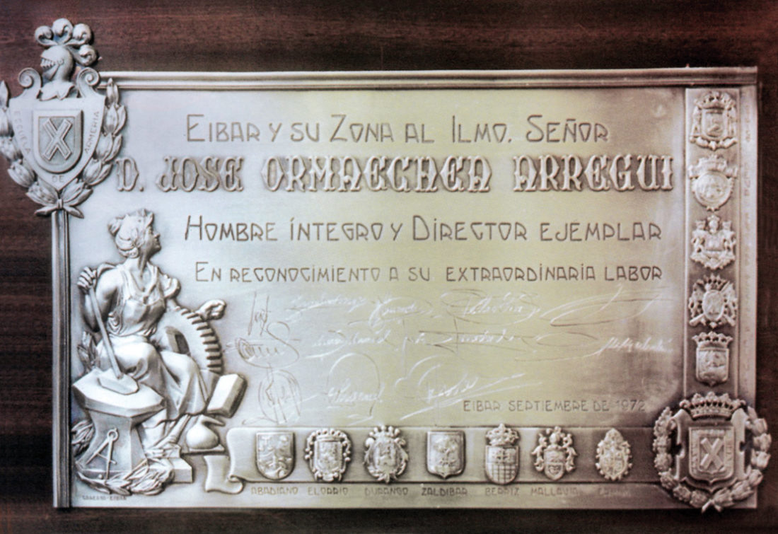 Placa Ormaetxea. Jose Kareaga
