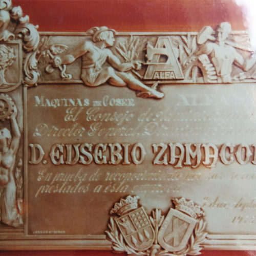 Placa Zamakola. Jose Kareaga